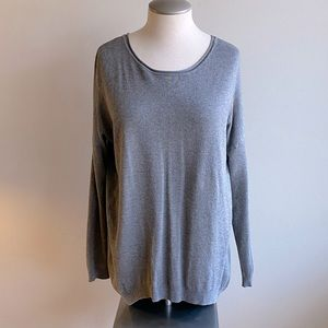 Atmosphere Sweater Grey with Zipper back Small